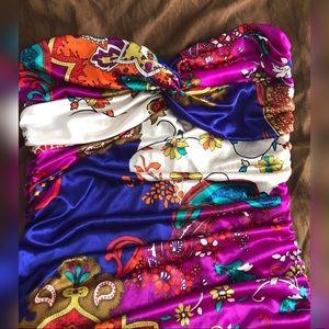 Forever 21 Dresses - Forever 21 Paisley Bodycon Strapless Dress